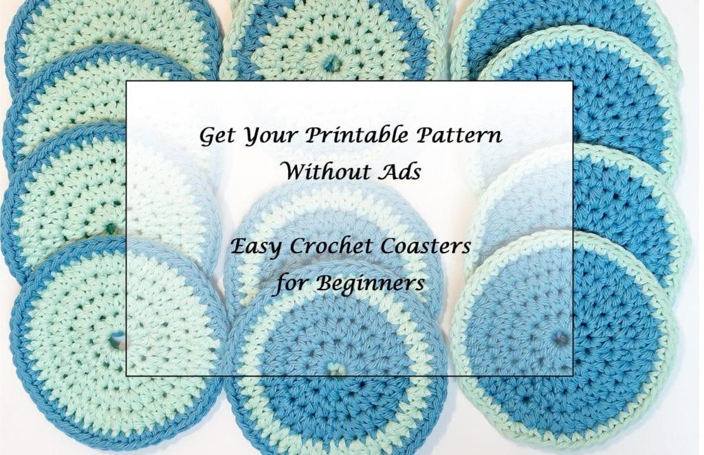 Easy Crochet Coasters for Beginners printable