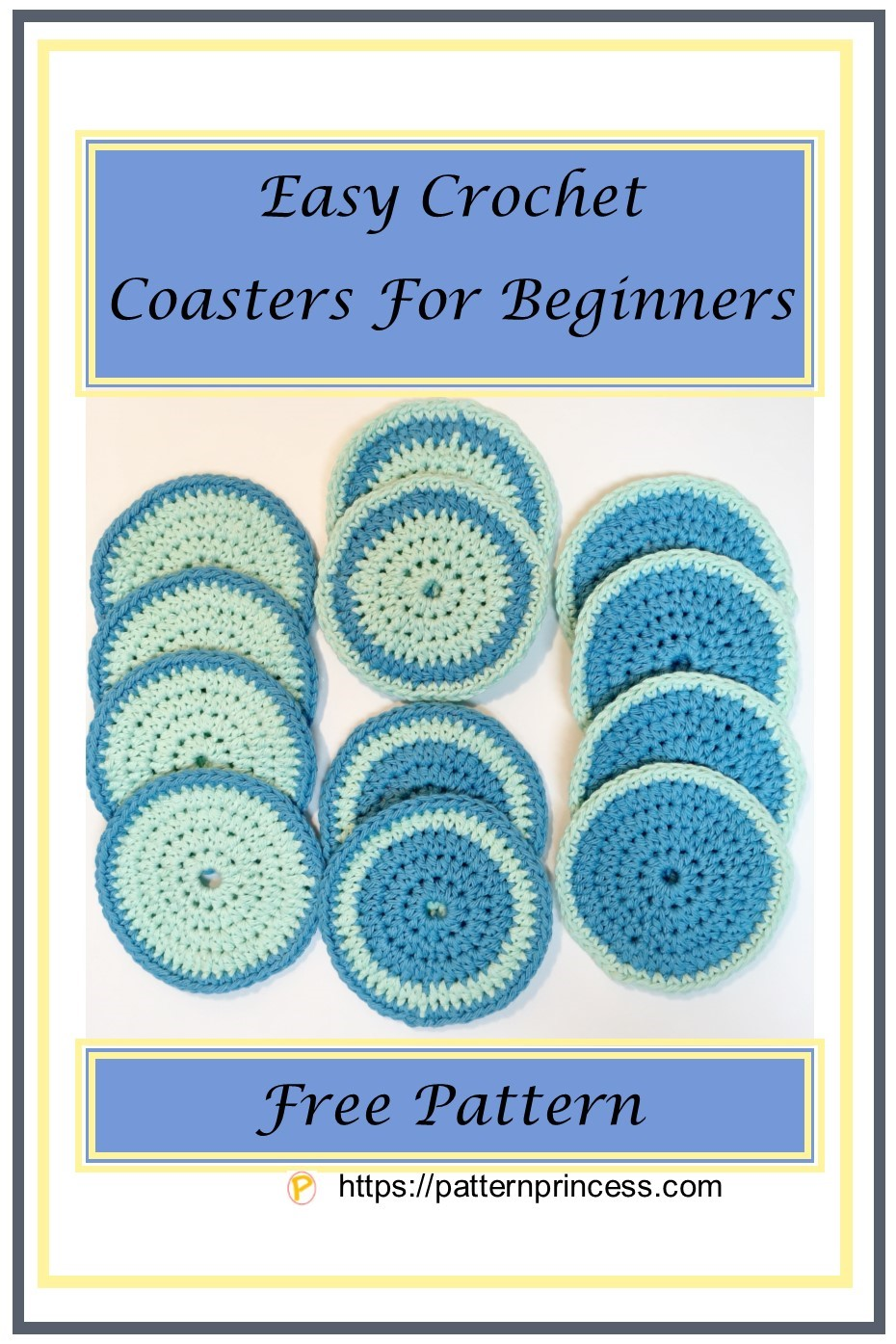 Easy Crochet Coasters For Beginners Pattern Princess