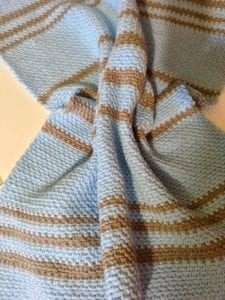 Simple Crochet Moss Stitch Baby Afghan