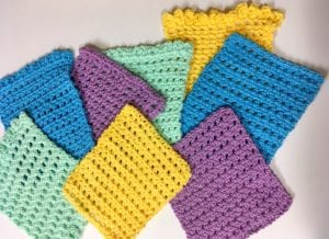 Simple Cute and Quick Crochet Washcloths pattern