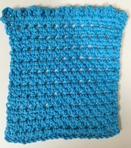 Simple cute and quick crochet washcloth pattern one ruffle