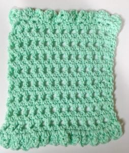 Simple Cute and Quick Crochet Washcloth Pattern two ruffles