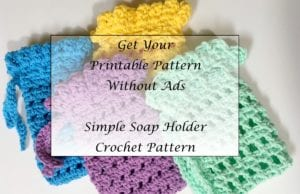 Simple Soap Holder Crochet Pattern Printable