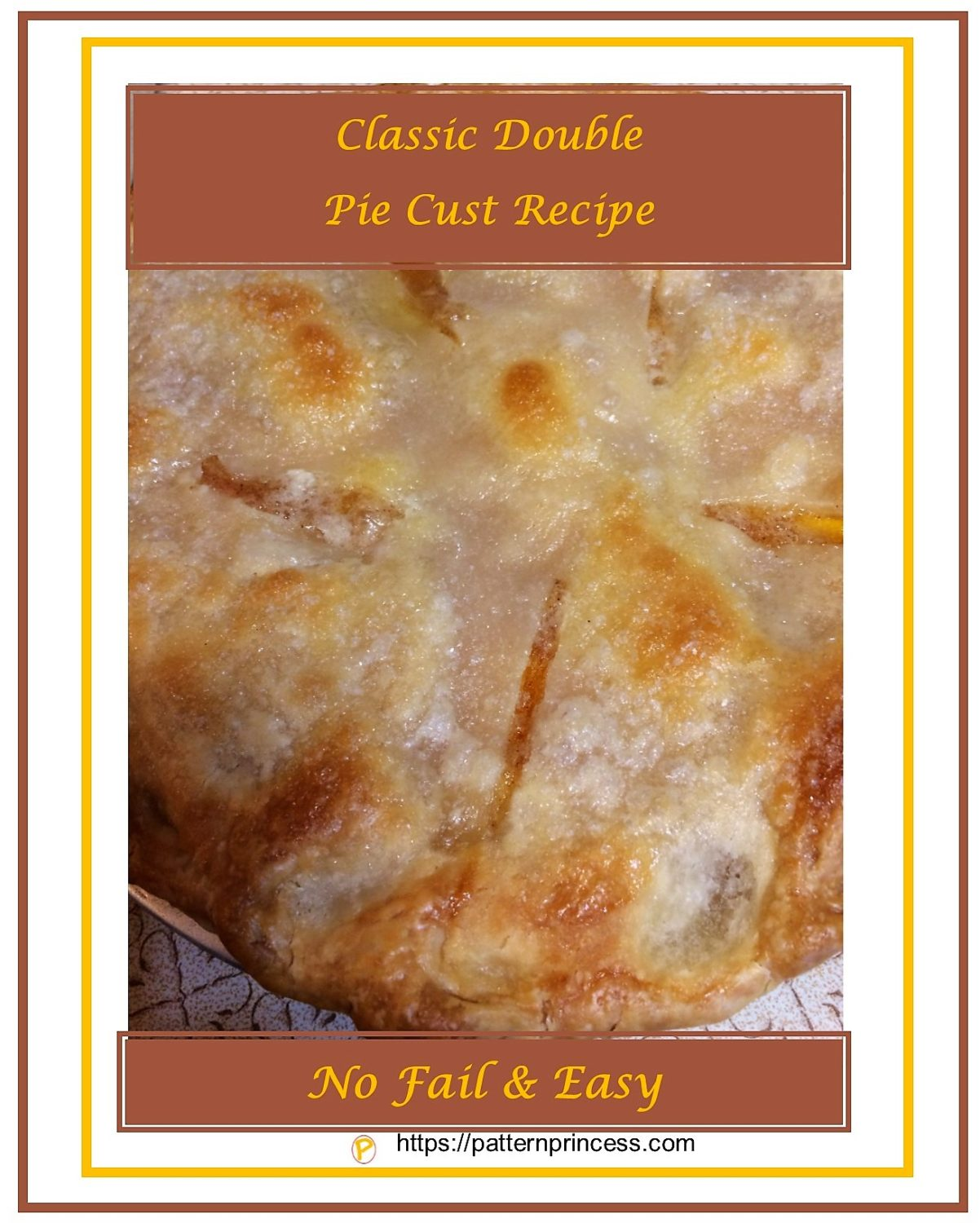 Classic Double Crust Pie Recipe 1