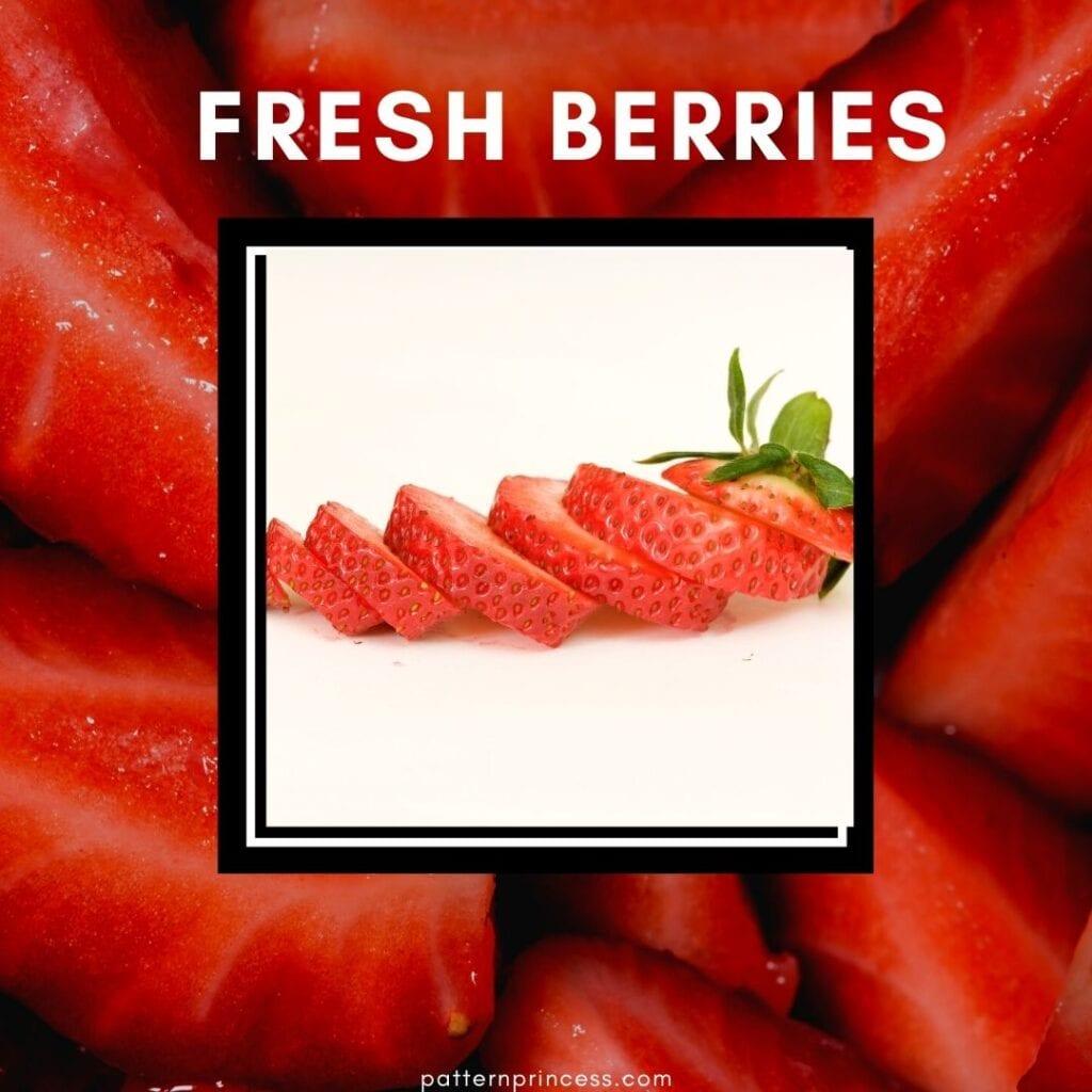 Fresh Berries Sliced