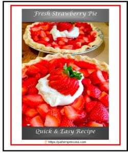 Fresh Strawberry Pie 1