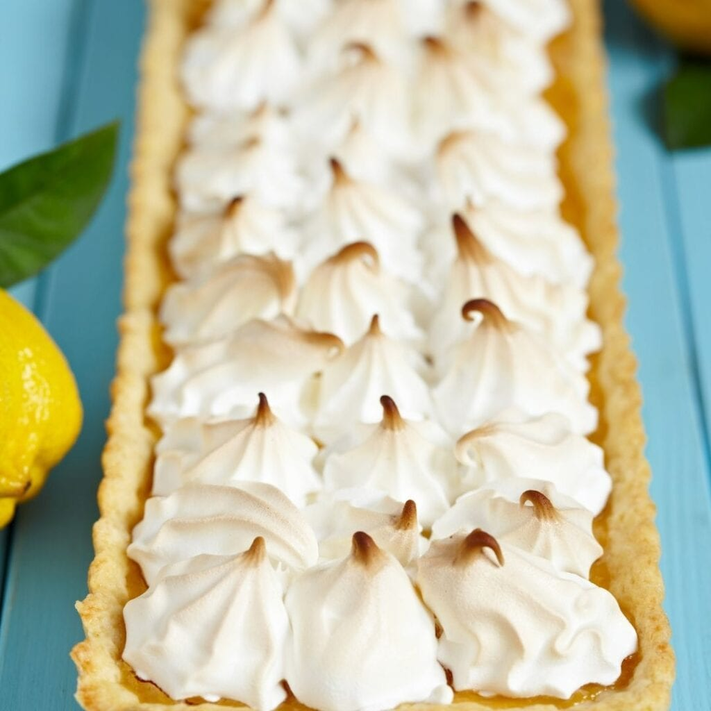 Lemon Custard Tart with Meringue Topping