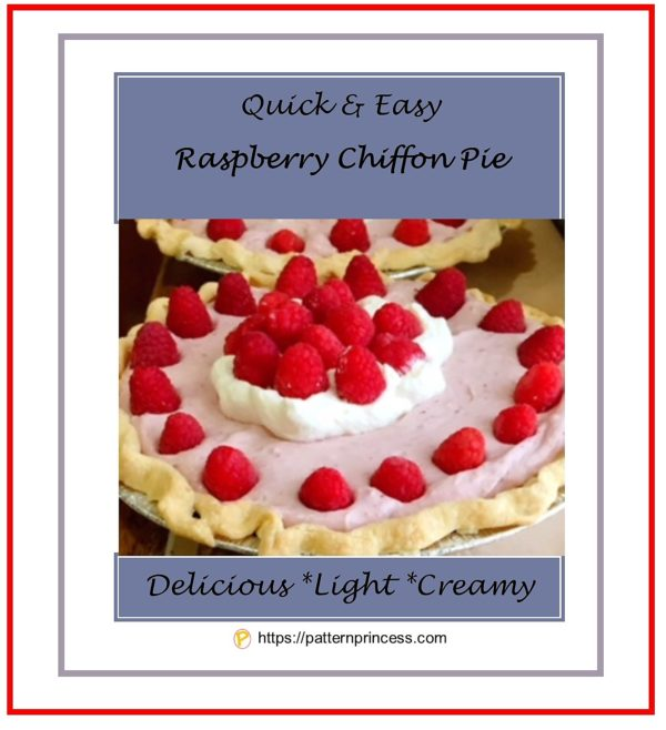 Quick and Easy Raspberry Chiffon Pie