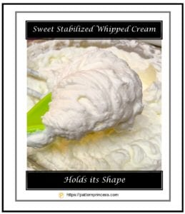 Sweet Stabilized Whipped Cream 1