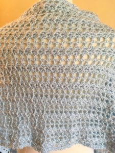 Back View Lacy Lindsey Shawl