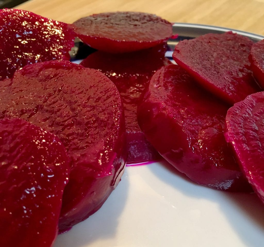Pickled Beets Plated