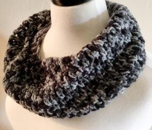 Salt and Pepper Cowl Crochet Pattern