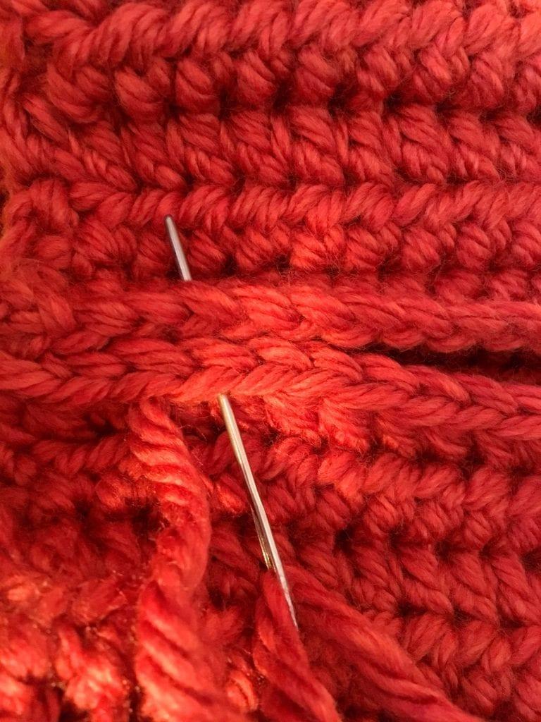 joining edges of crochet pumpkin