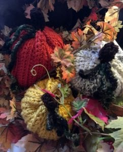 crochet gourds and pumpkins