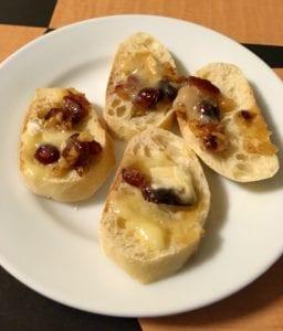 warm cranberries walnuts honey