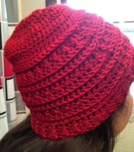 Autumn Crochet Hat Side View