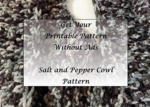 Salt and Pepper Cowl Pattern Printable