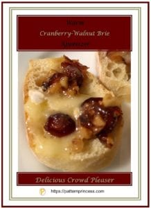 Warm Cranberry Walnut Brie Appetizer 1