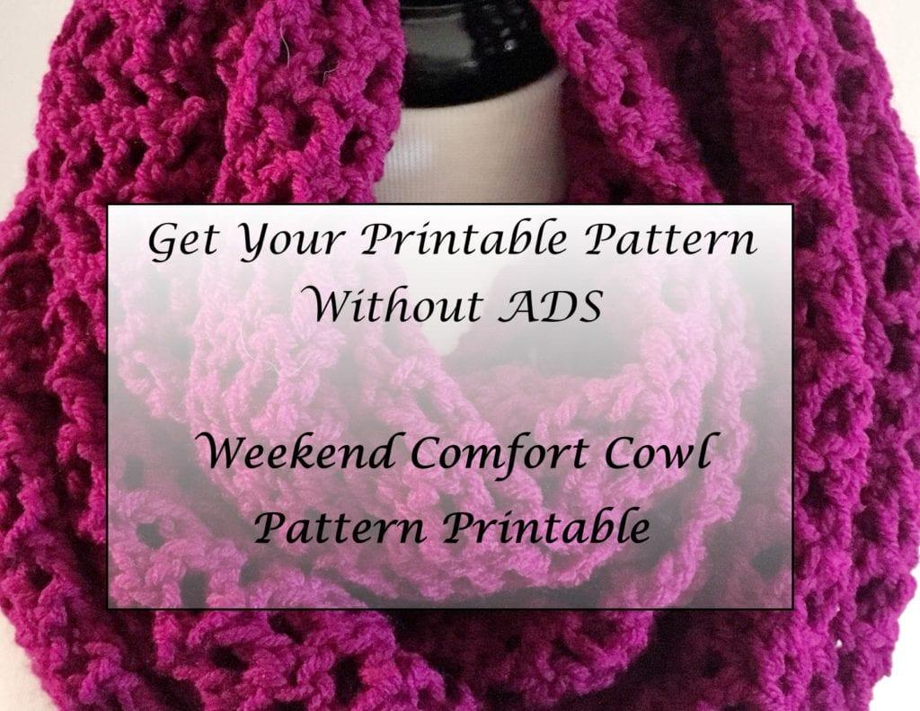 Weekend Comfort Cowl Pattern Printable