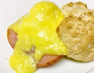 Eggs Benedict with Biscuit