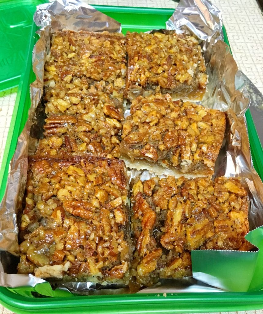 Freezing Pecan Pie Bars