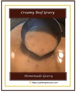 Creamy Beef Gravy 1