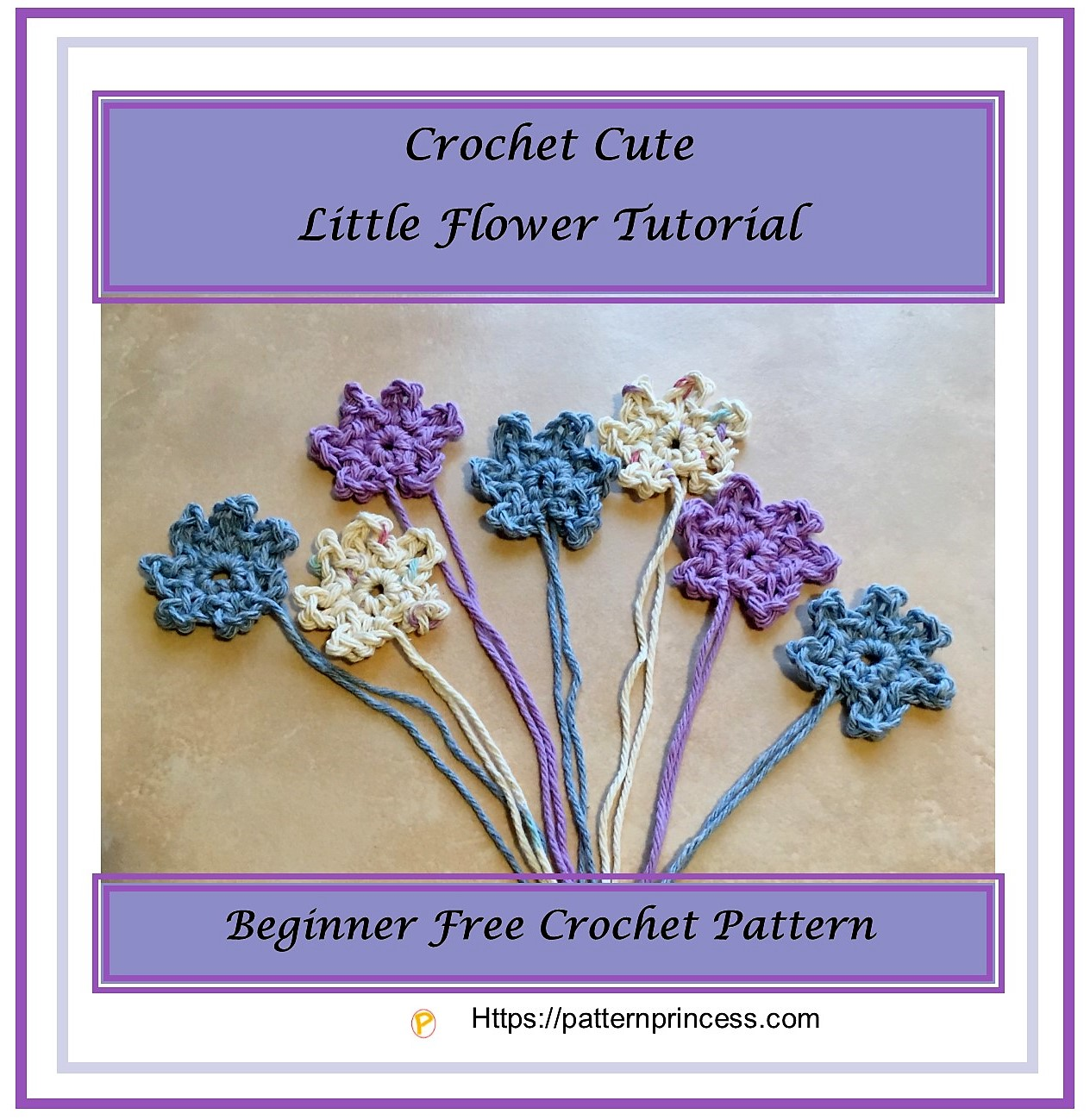 Crochet Cute Little Flower Tutorial 1
