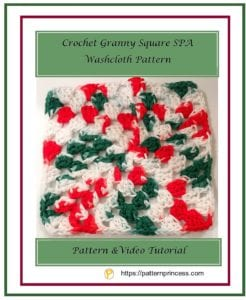 Crochet Granny Square SPA Washcloth Pattern