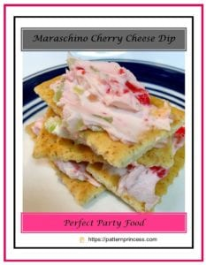 Maraschino Cherry Cheese Dip