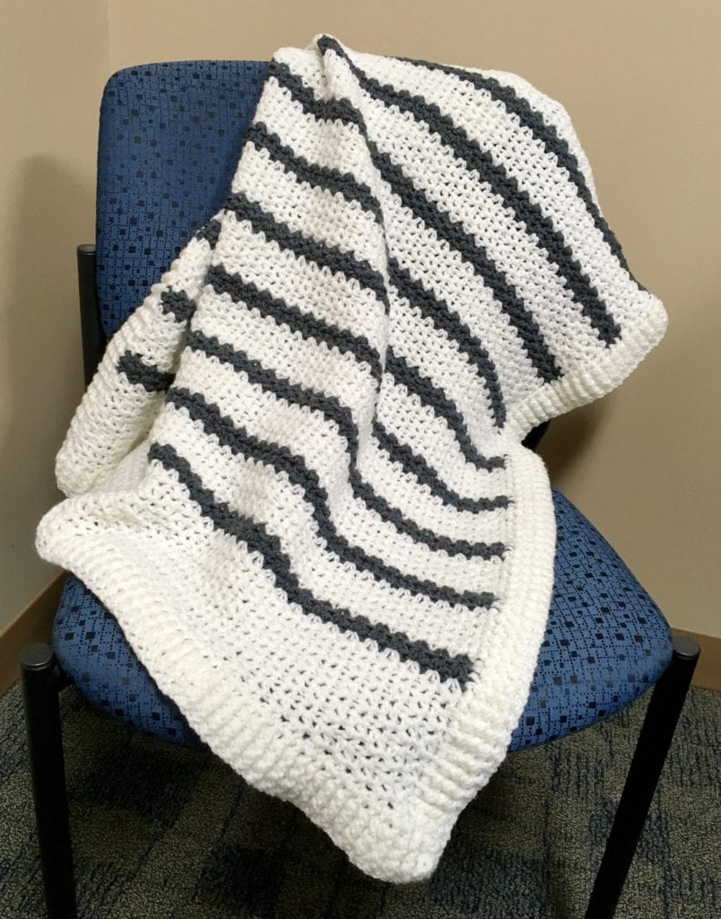 Snowy Field Crochet Blanket