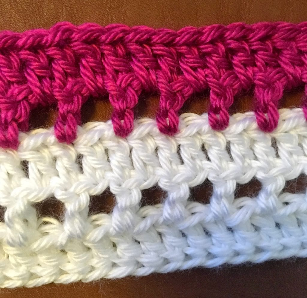 Lacy Crochet Shawl Stitch Close Up
