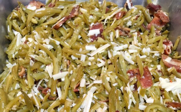 Green Bean Casserole in Baking Dish