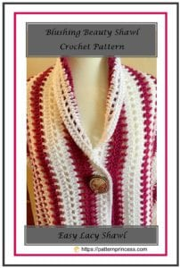 Blushing Beauty Shawl Crochet Pattern 1