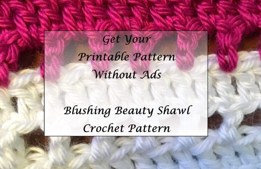 Blushing Beauty Shawl Crochet Pattern Printable