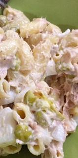 Tuna Pasta Salad Close up