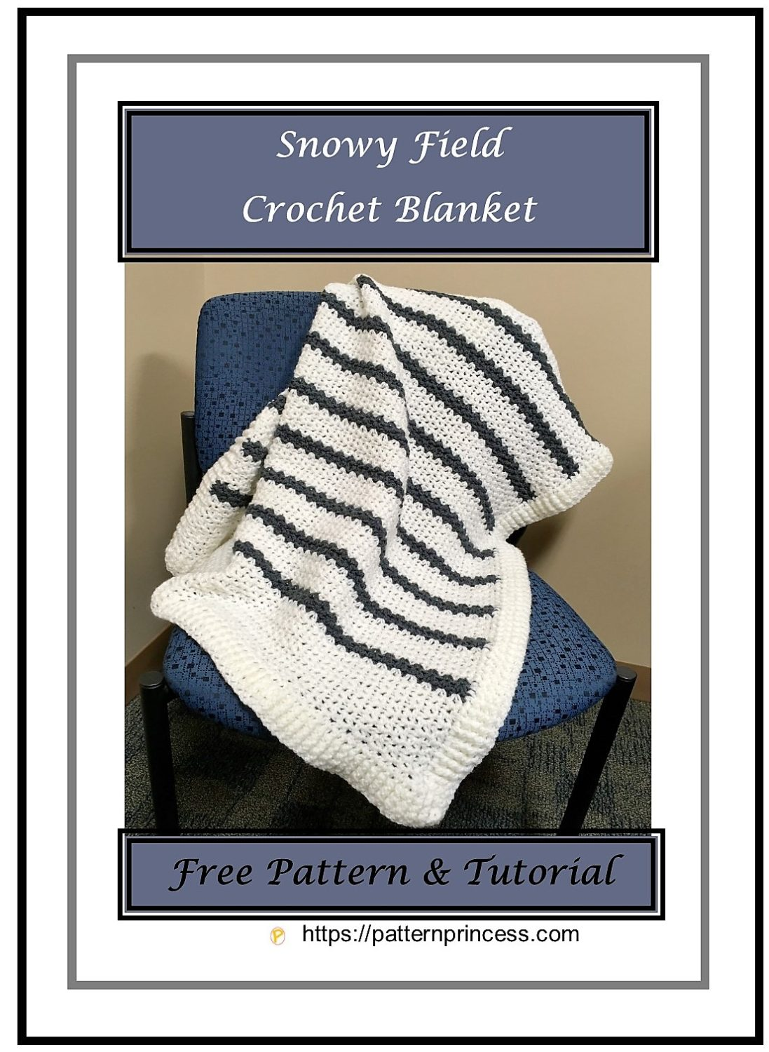 Snowy Field Crochet Blanket 1