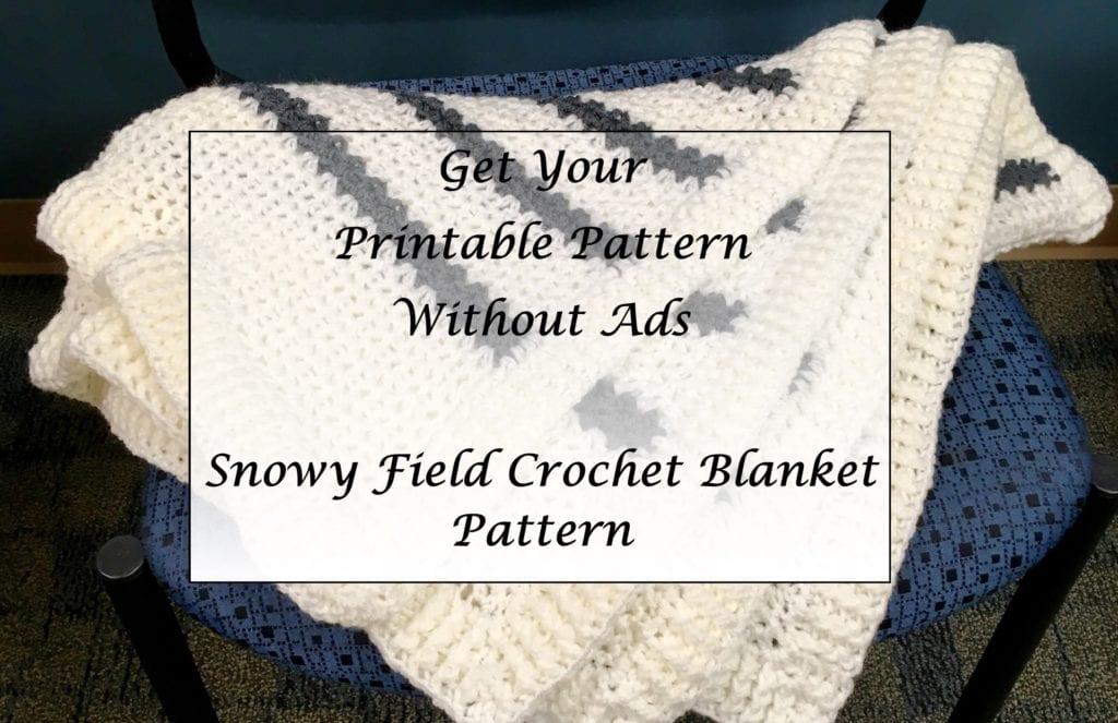 Snowy Field Crochet Blanket Pattern Printable