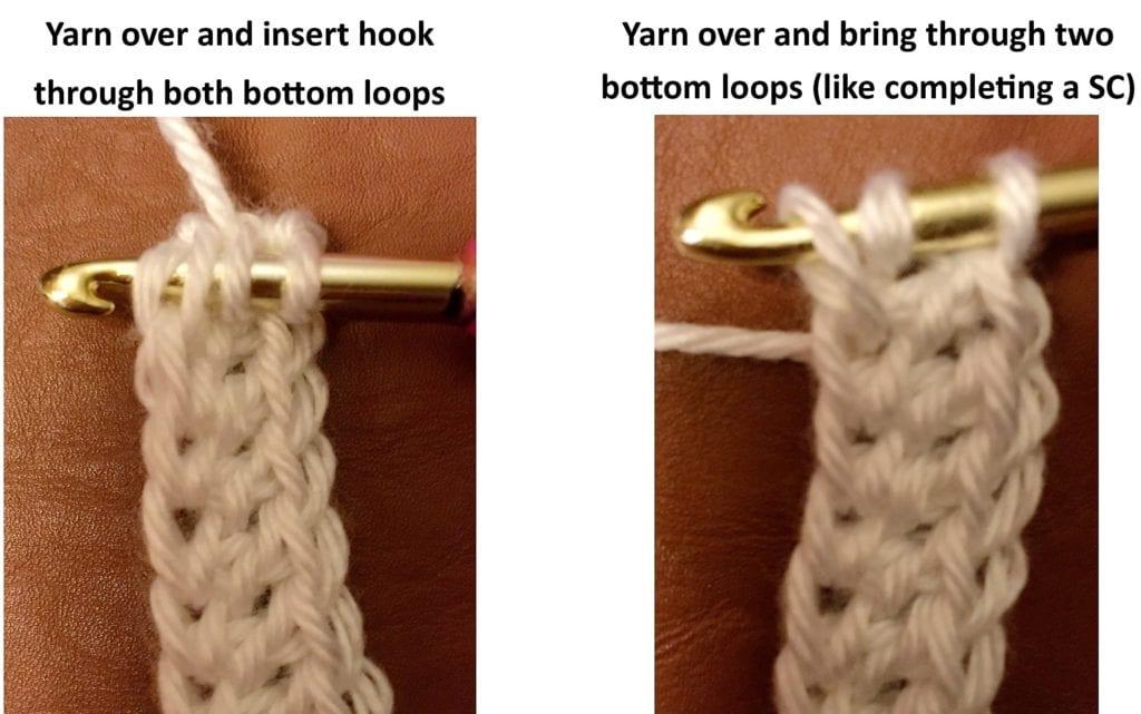 Step 1 no chain double crochet