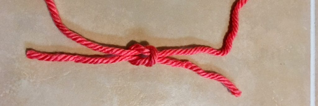 Final Step of Tying a Square Knot