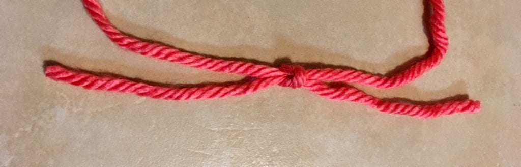 Tied Square Knot