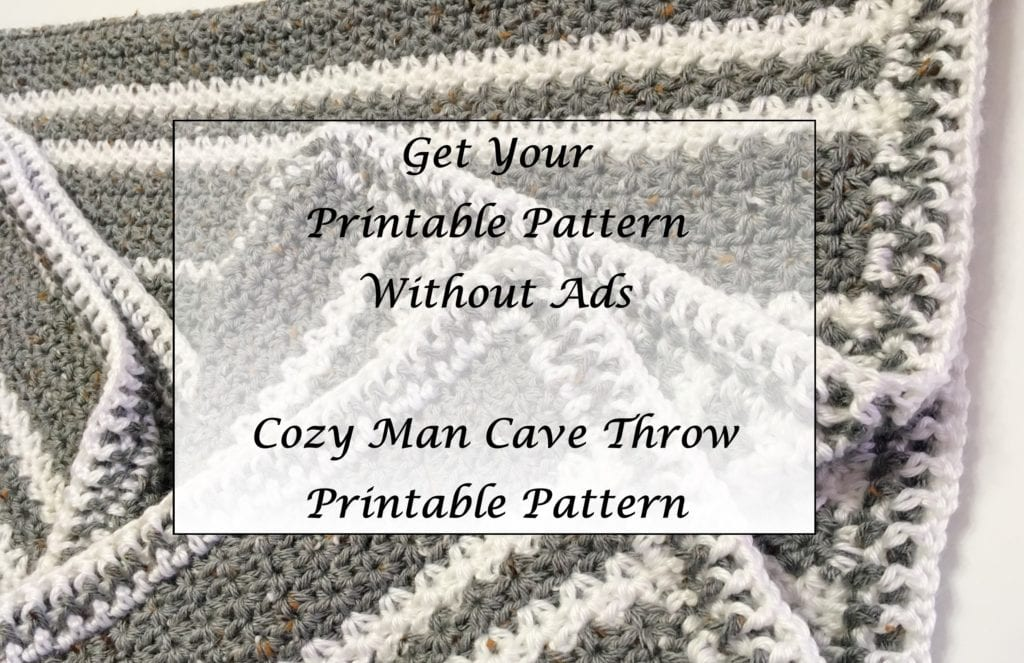 Cozy Man Cave Throw Pattern Printable