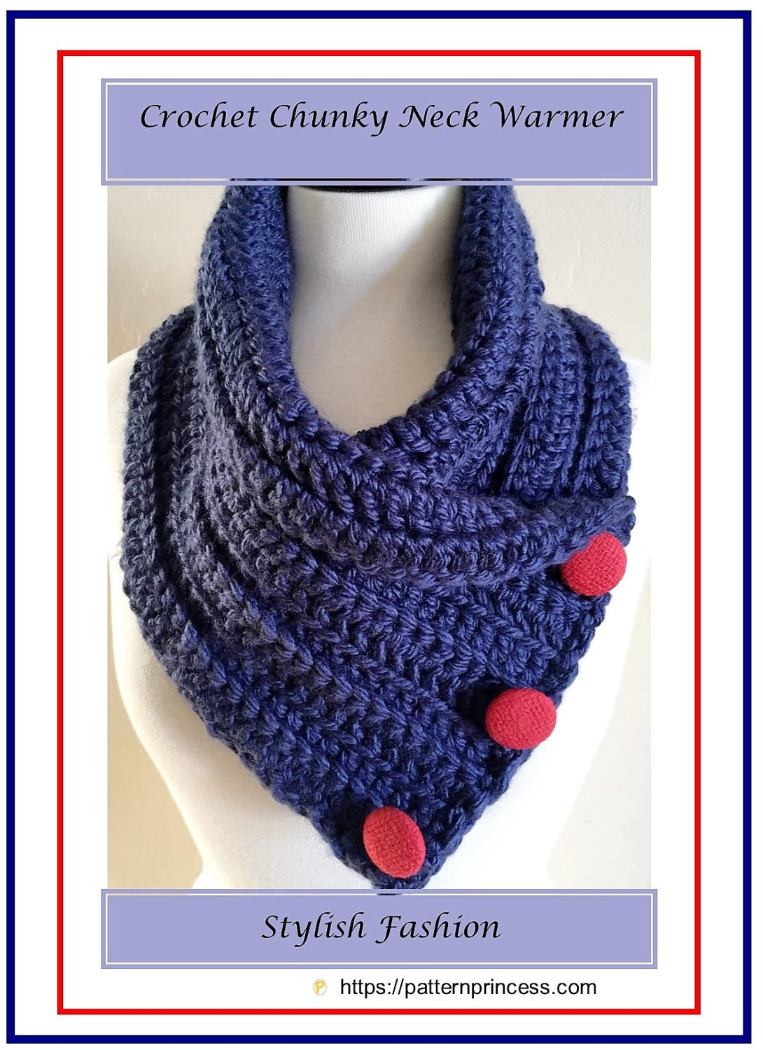 Crochet Chunky Neck Warmer 1