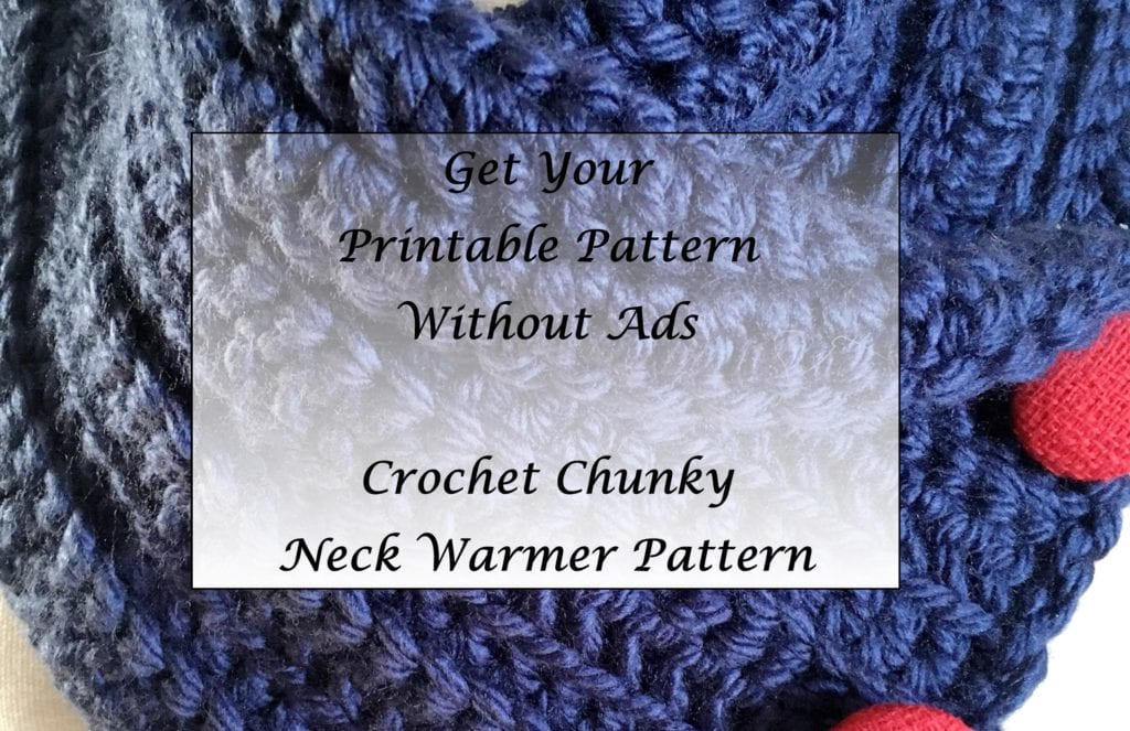 Crochet Chunky Neck Warmer Pattern Printable