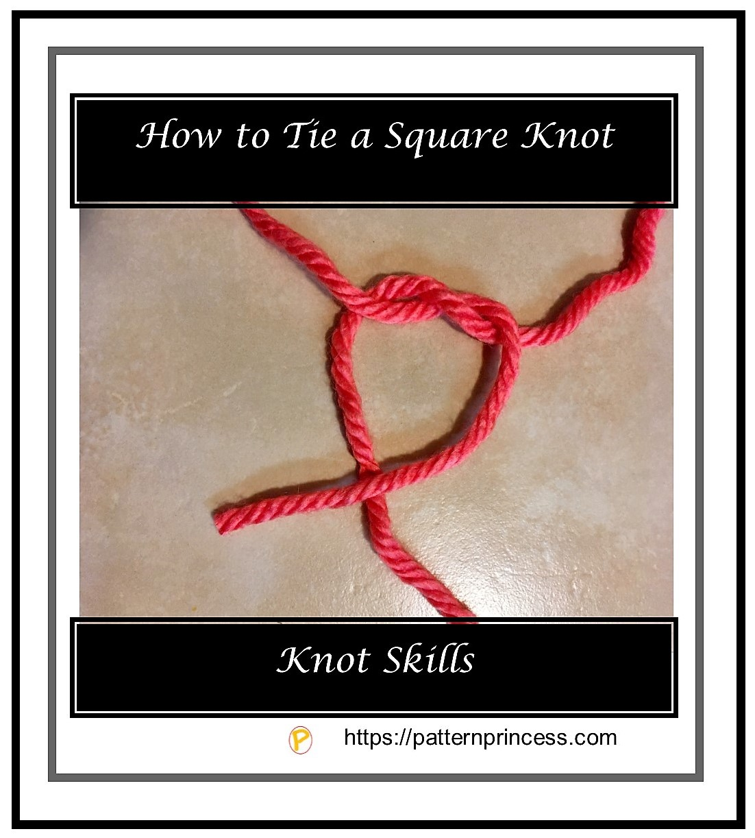 How to Tie a Square Knot 1