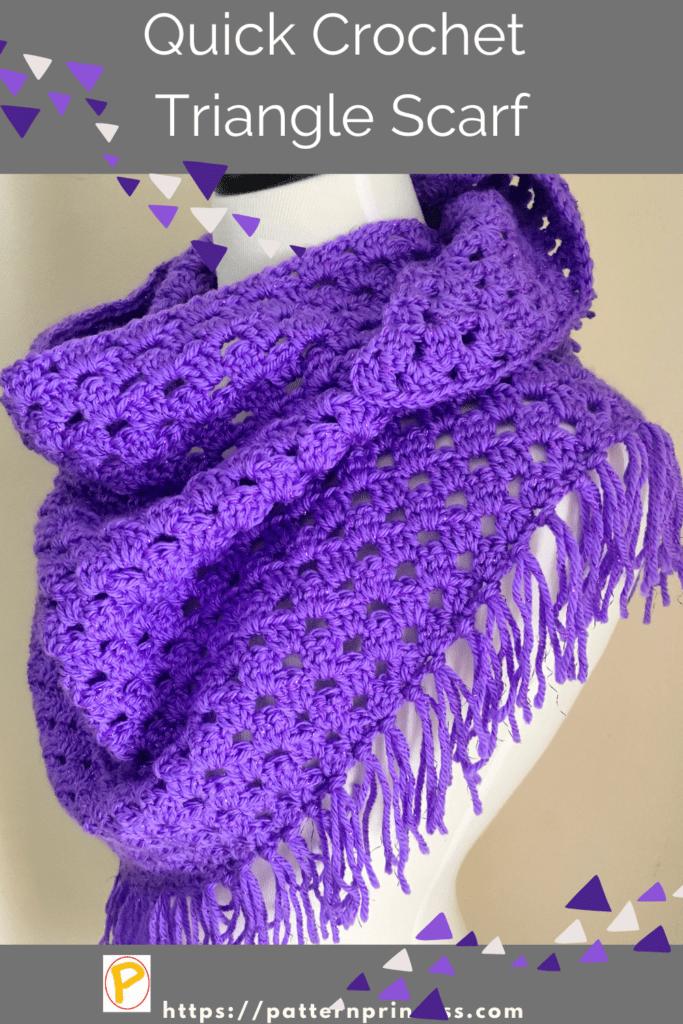 Quick Crochet Triangle Scarf