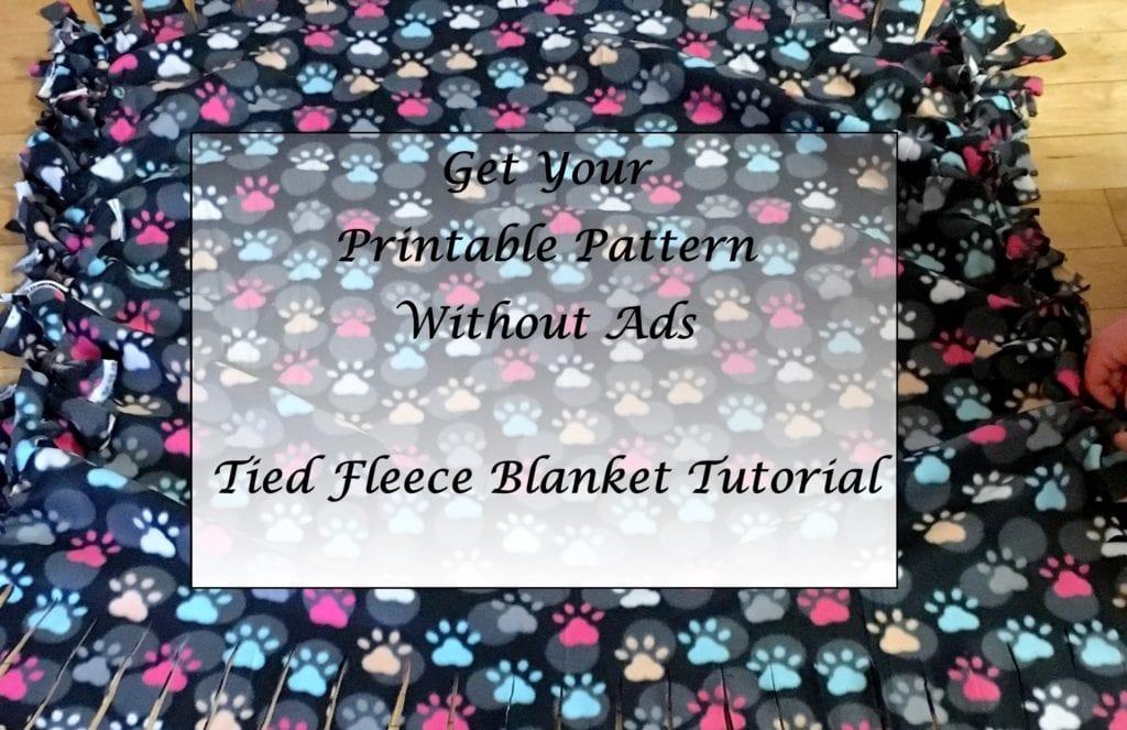 Tied Fleece Blanket Tutorial Printable