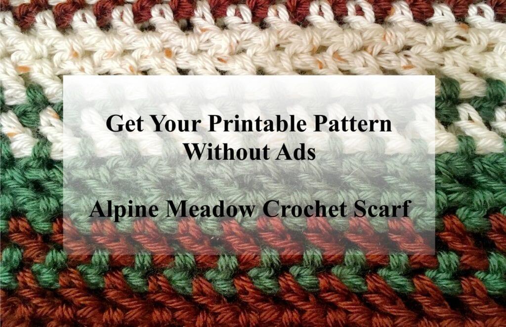 Alpine Meadow Crochet Scarf Printable