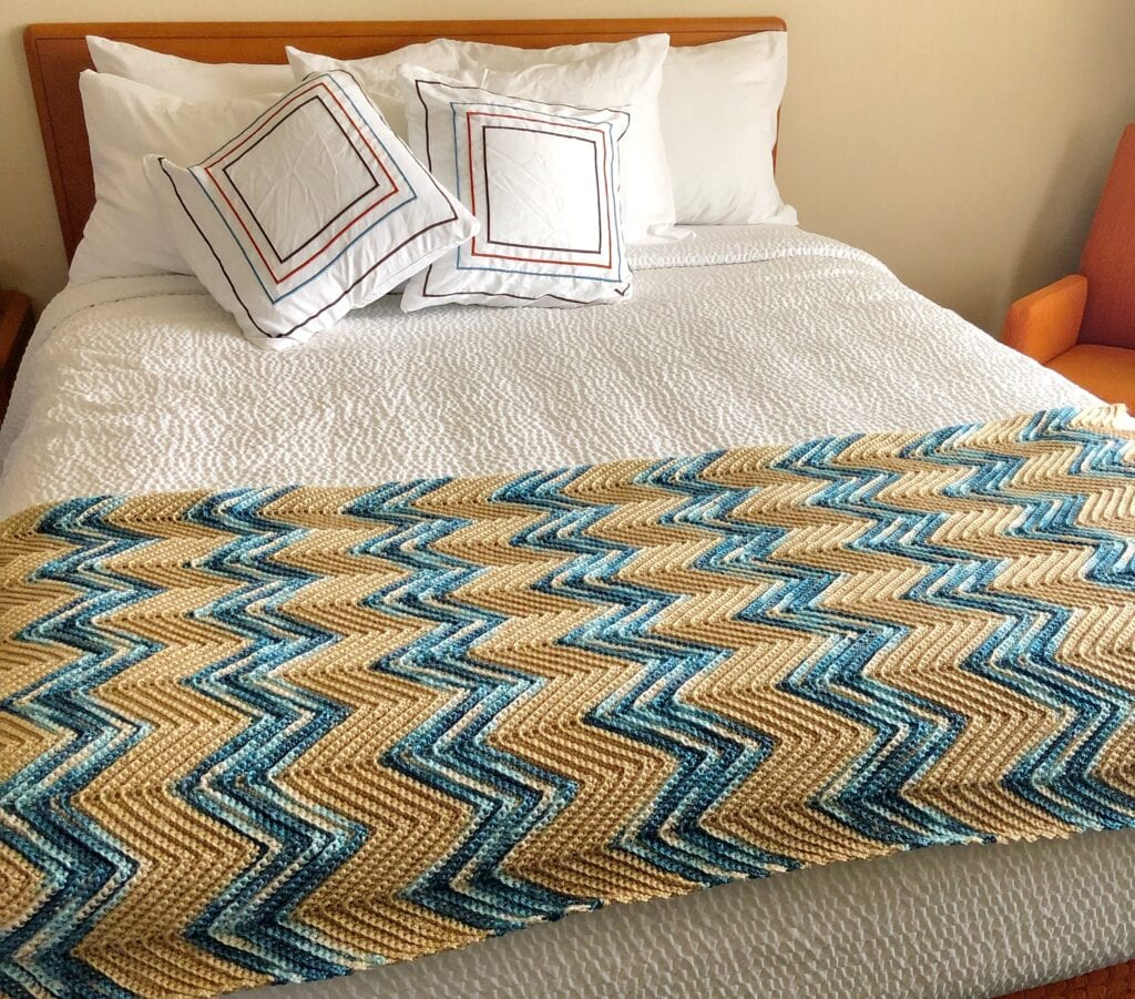 Chevron Country Bed Scarf