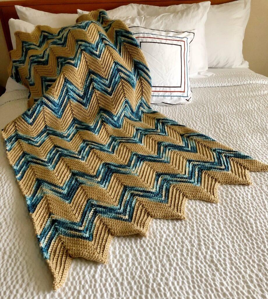 Crochet Chevron throw Pattern