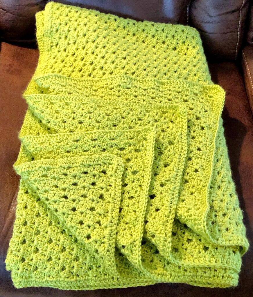 Heirloom Crochet Blanket Folded